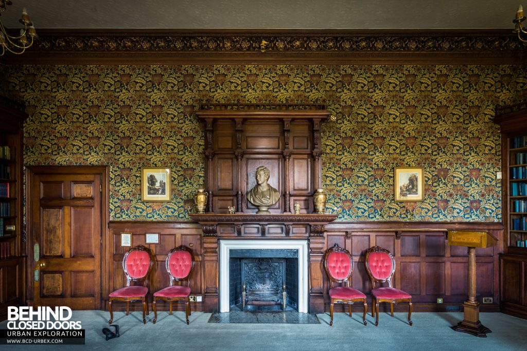 Quorn House - Fireplace with chairs either-side
