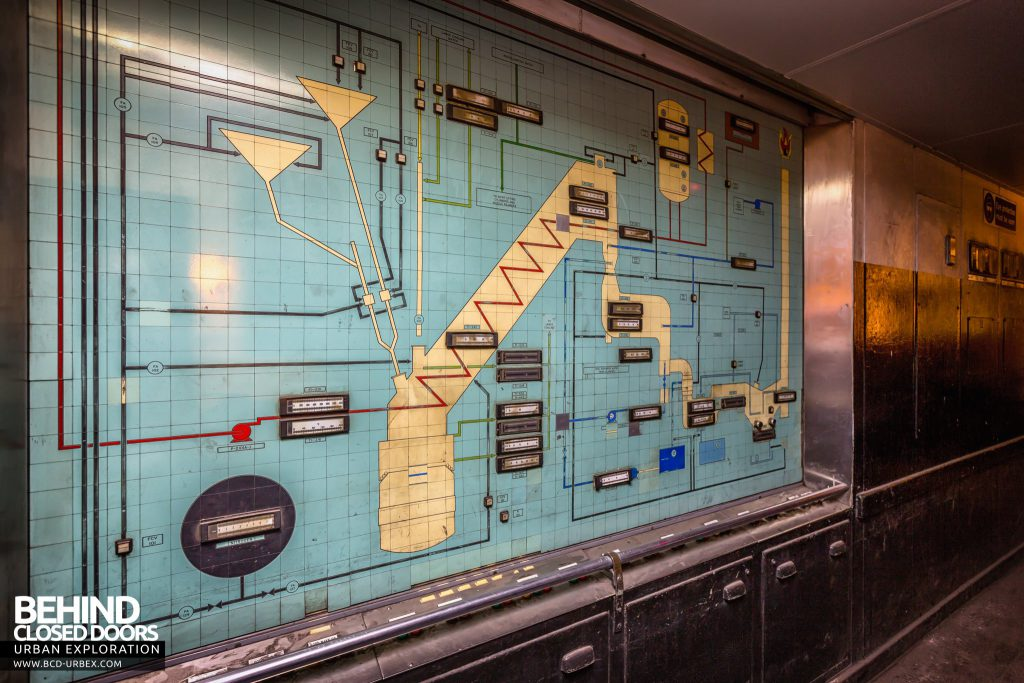 Lackenby Steelworks - Control panel shows diagram of the process