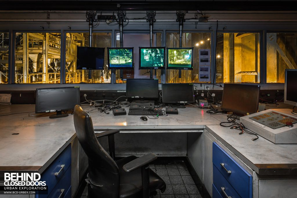 Lackenby Steelworks - Control room overlooking the production areas