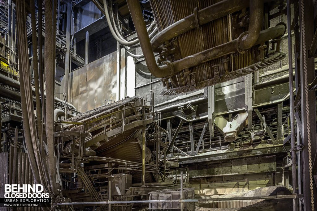 Lackenby Steelworks - Partly dismantled BOS Vessel