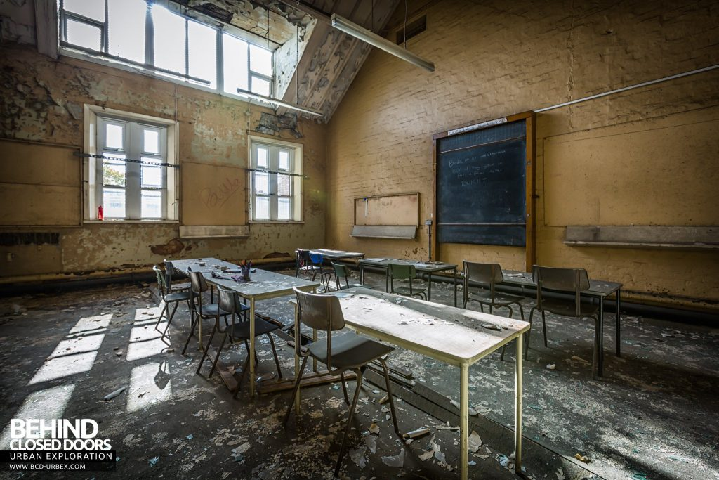 St John the Baptist School, Wigan - Classroom with desks and chairs