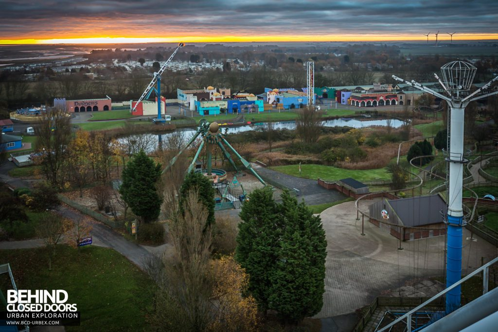 Pleasure Island, Cleethorpes - View across the site from top of the roller coaster