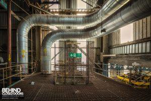 Spondon H Boiler House - Steam main to Celanese