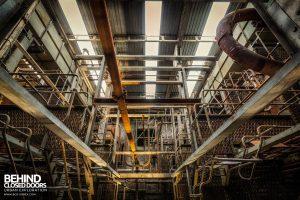 Spondon H Boiler House - Looking down