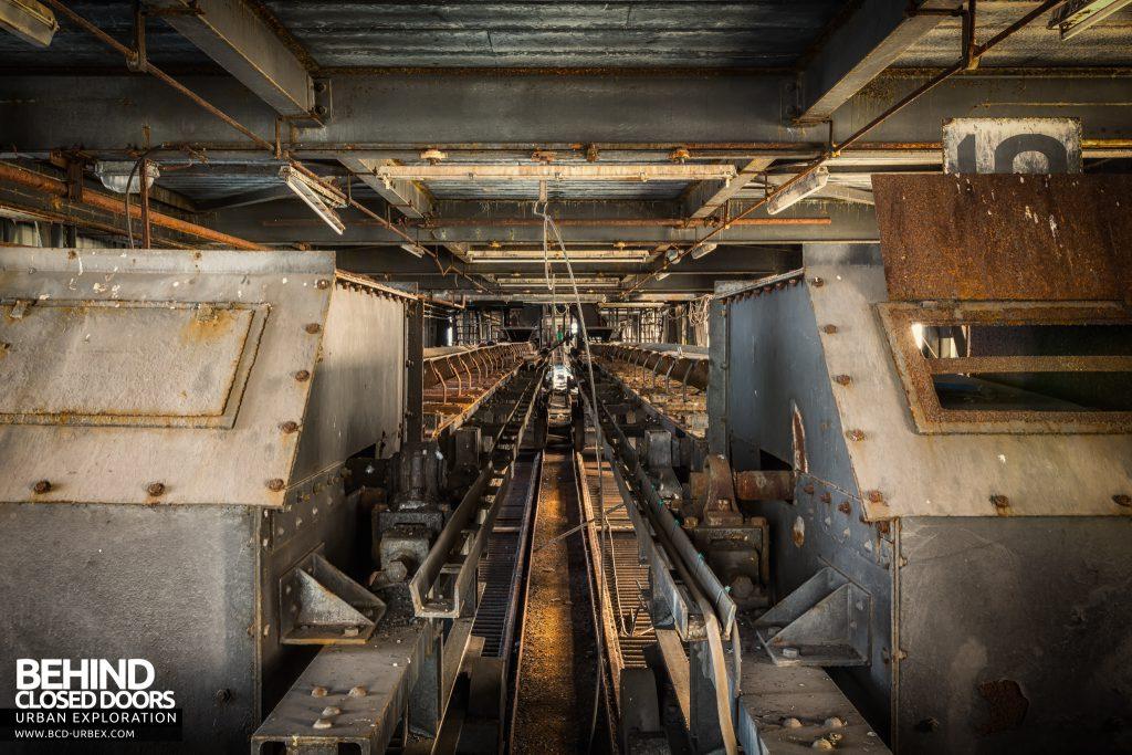 Spondon H Boiler House - Coal conveyors above the boilers