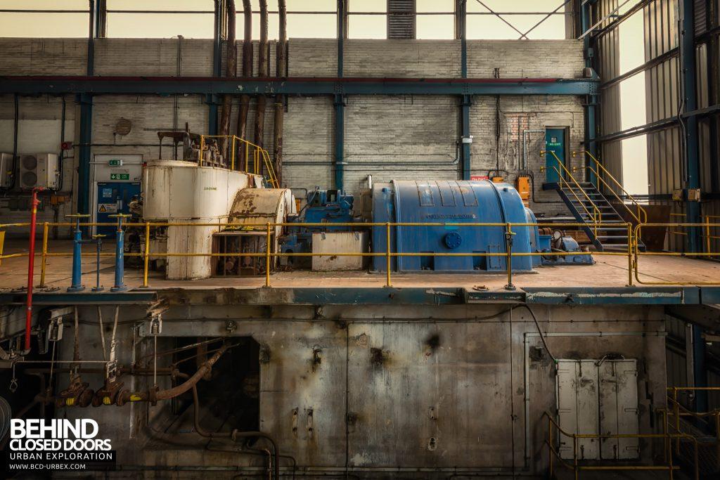 Spondon H Power Station - Metropolitan Vickers turbine in its original configuration