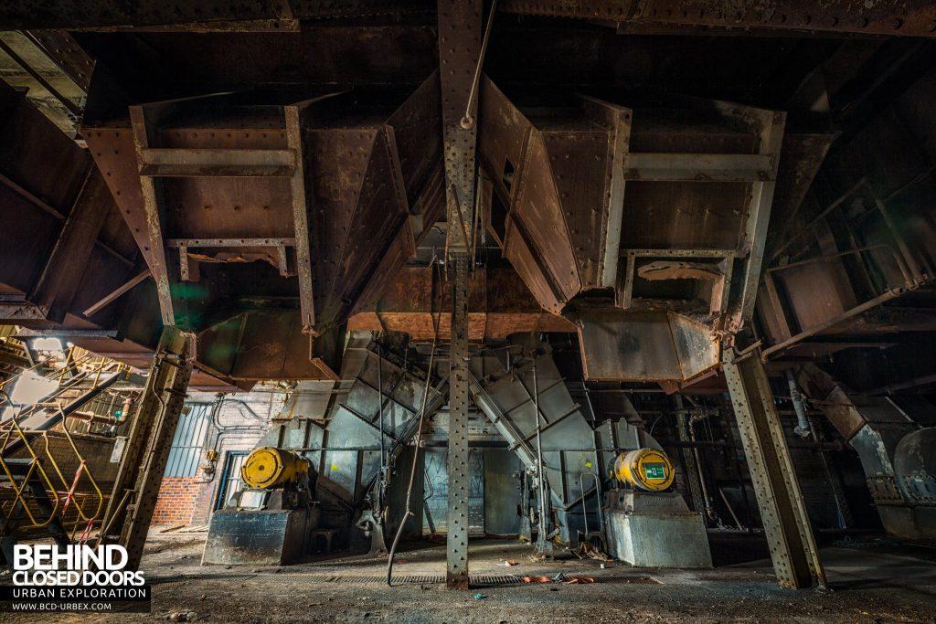 Spondon H Boiler House - Below the boilers