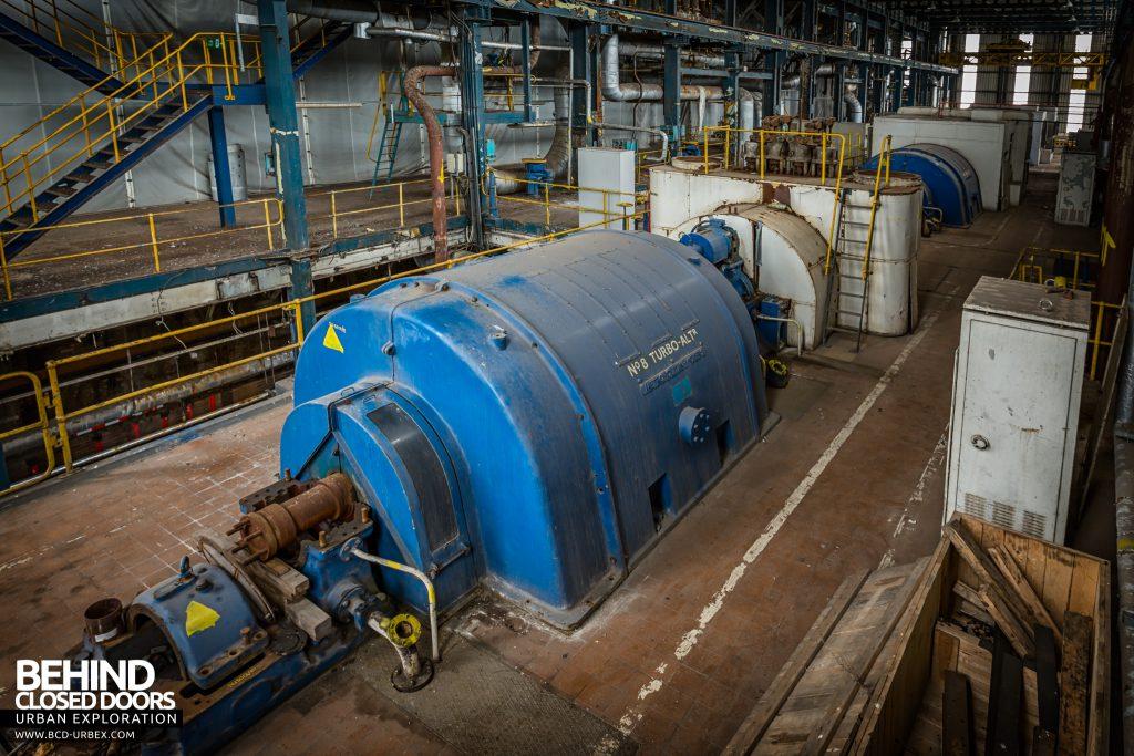 Spondon H Power Station - Metropolitan Vickers turbine and generator