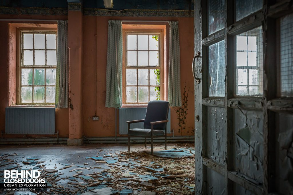 St. Brigids / Connacht Asylum - Chair in a decaying room
