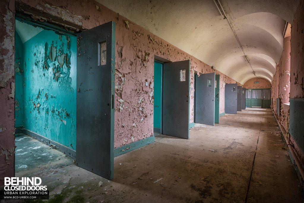 St. Brigids / Connacht Asylum - Row of doors in arched corridor