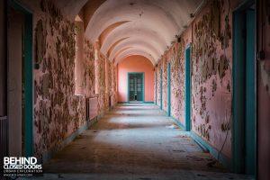 St. Brigids / Connacht Asylum - Curved ceiling corridor