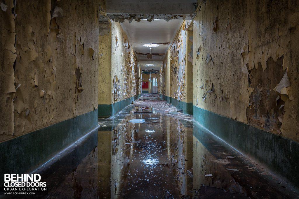 St. Brigids / Connacht Asylum - Reflections in a flooded corridor