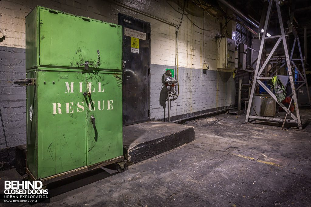 Goodyear Mixing and Retread Plant, Wolverhampton - Mill rescue cabinet