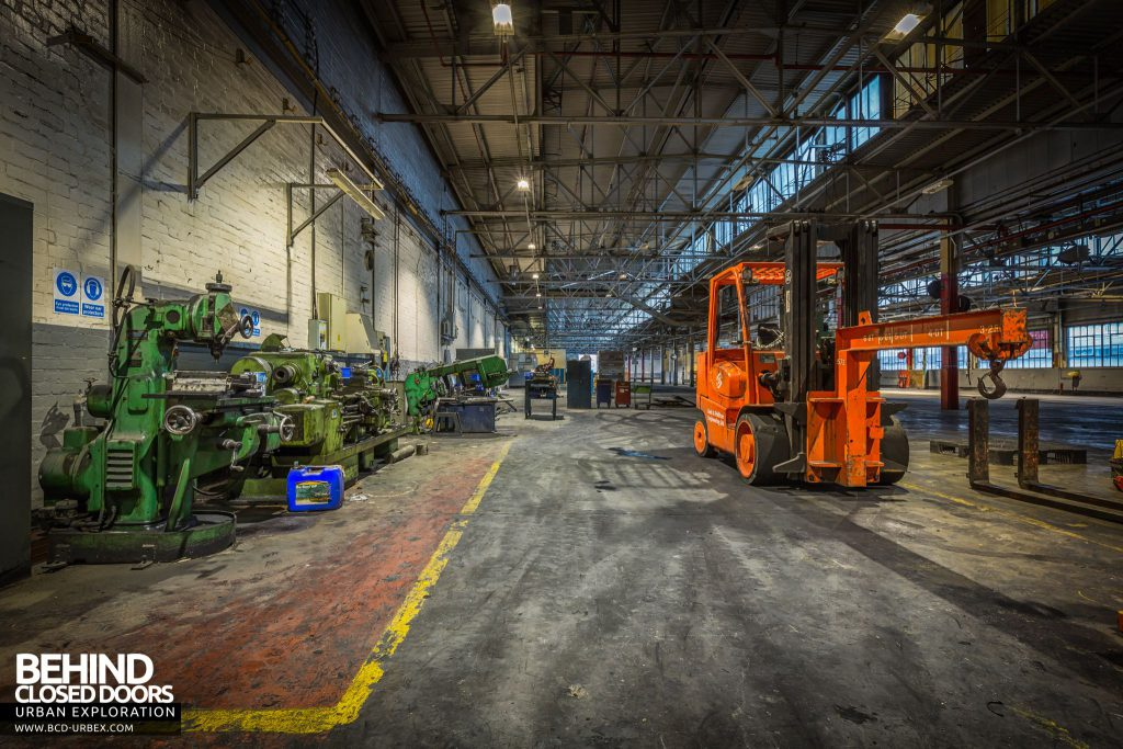Goodyear Mixing and Retread Plant, Wolverhampton - Workshop area