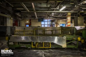 Goodyear Mixing and Retread Plant, Wolverhampton - End of a conveyor line