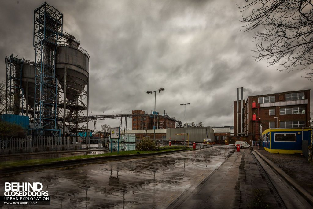 Goodyear Mixing and Retread Plant, Wolverhampton - View from front gate