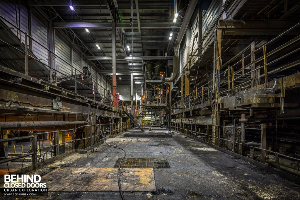 Goodyear Mixing and Retread Plant, Wolverhampton - Much of the mixing plant was stripped out