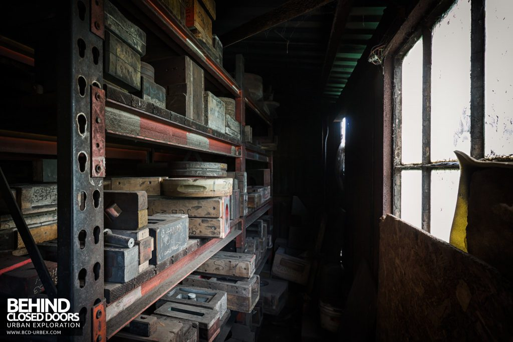 Chamberlin & Hill Castings, Leicester - Core store room