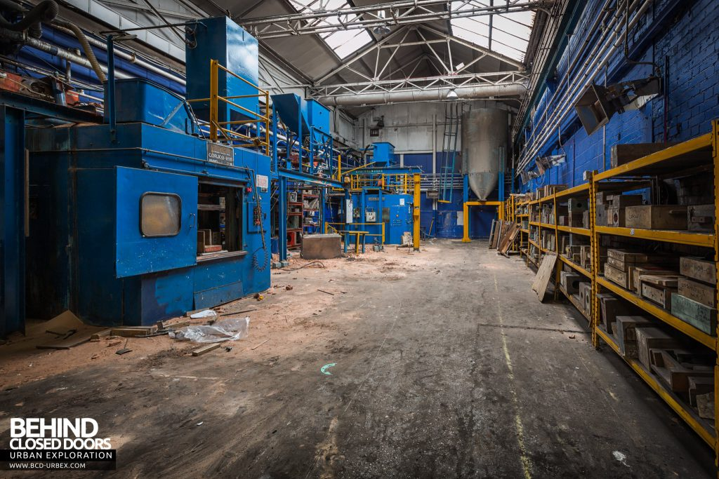 Chamberlin & Hill Castings, Leicester - Eurocor machines in the core shop