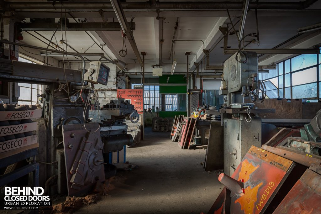 Chamberlin & Hill Castings, Leicester - Main workshop