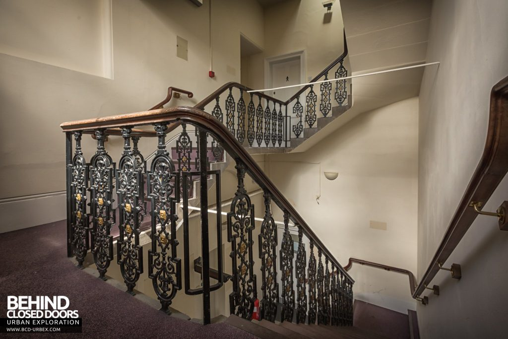 County Court, Burton upon Trent - Ironwork balustrade on stairs