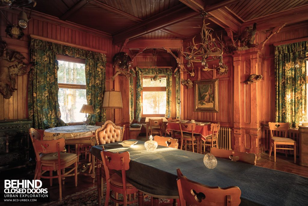 The Hunters Hotel, Germany - View across the dining table