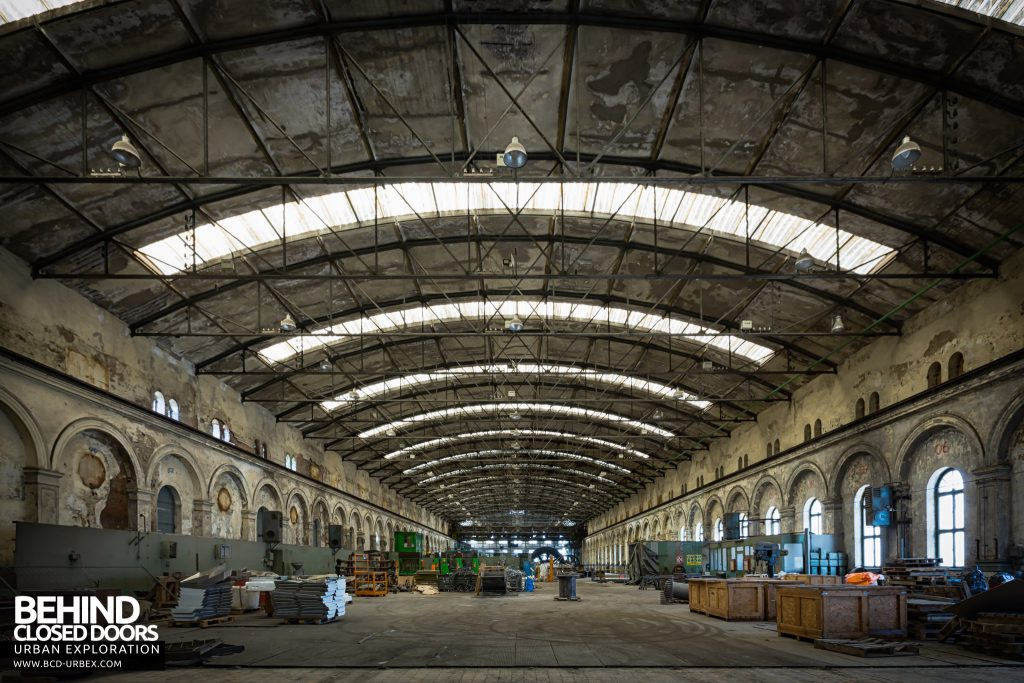Powerplant X, Luxembourg - The cavernous Gas Engine hall. This would once have been filled with gas fired motor generators