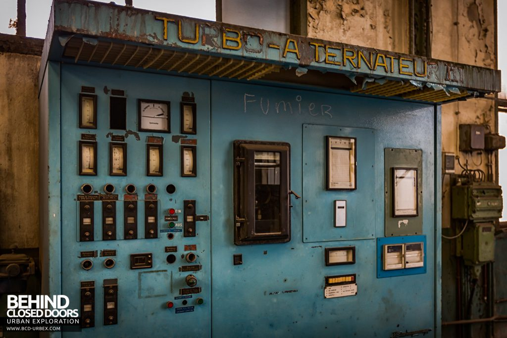 Powerplant X, Luxembourg - Turbine control panel