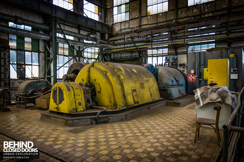Powerplant X, Luxembourg - One of the 1950s turbine generators