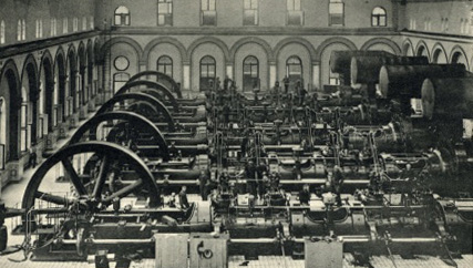 The gas engine hall in 1907