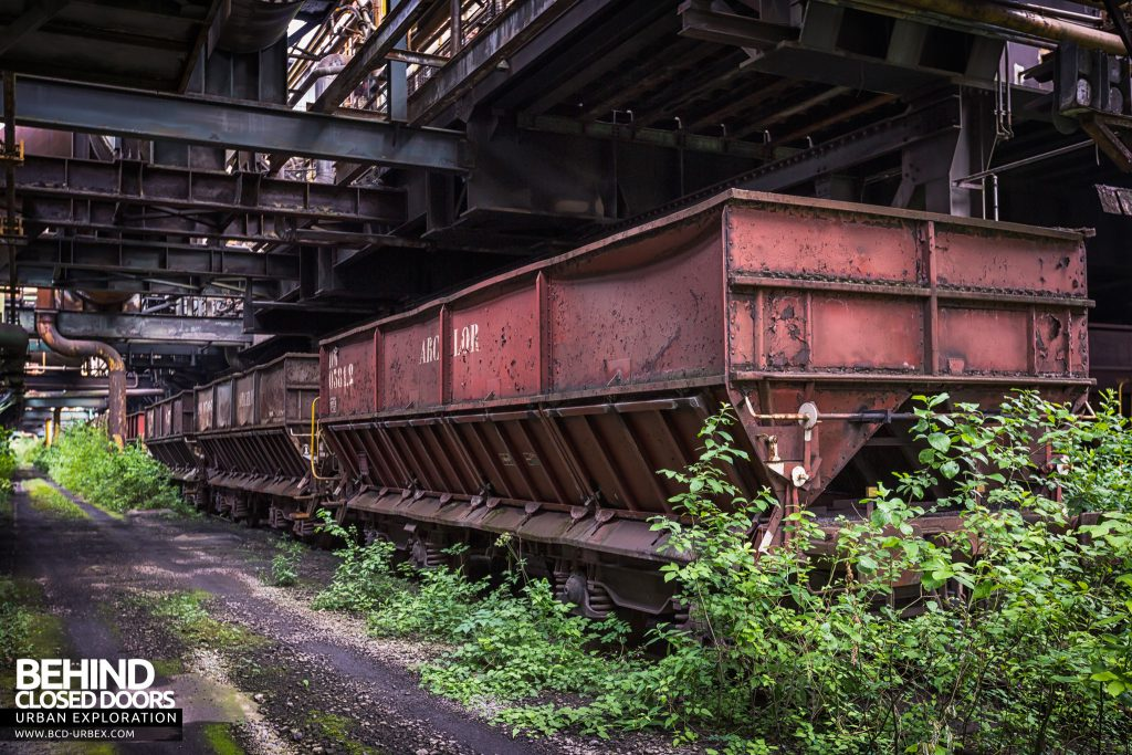 Florange Steelworks, France - Wagons under a blast furnace
