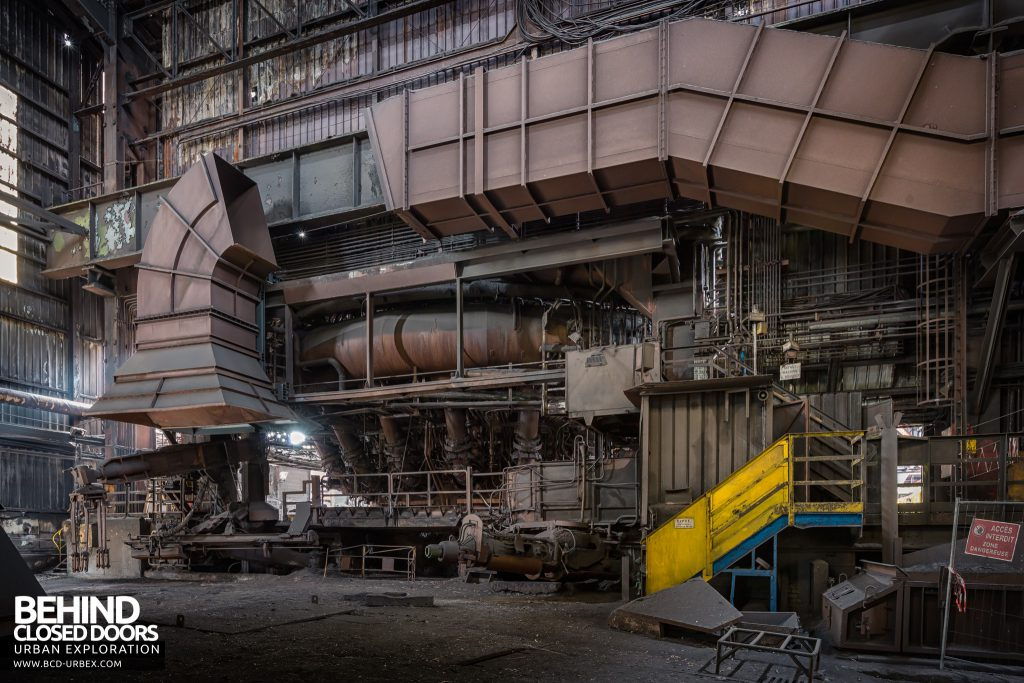 Florange Steelworks, France - Inside a blast furnace building