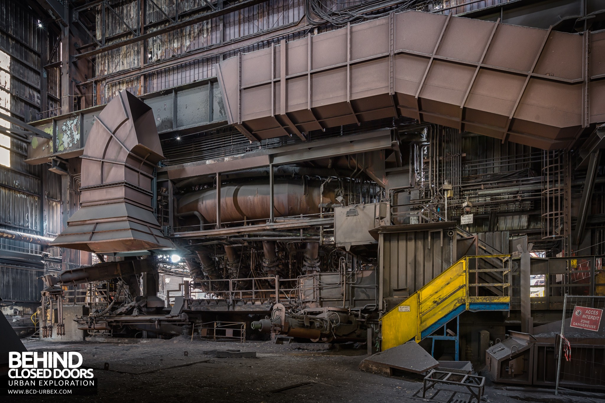 Blast Furnace Construction : Florange blast furnaces hfx and steel works france