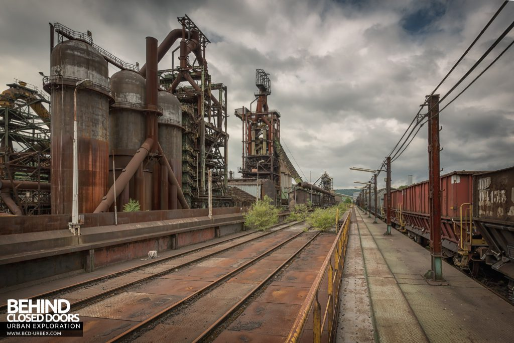 Florange Steelworks, France - Nature is starting to reclaim the tracks
