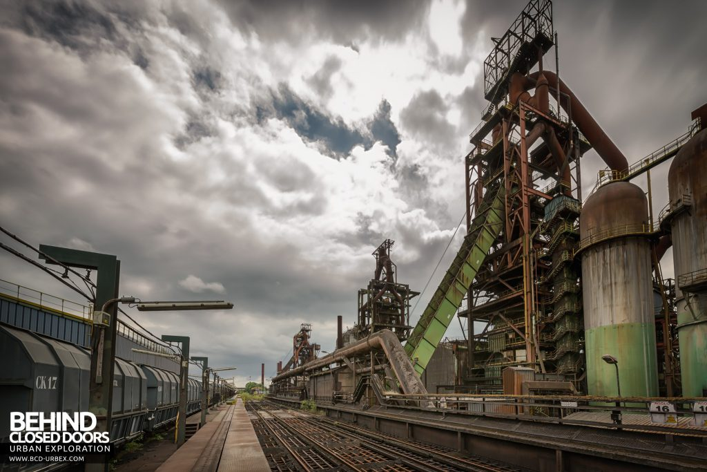 Florange Steelworks, France - Blast Furnaces viewed from the rail yard