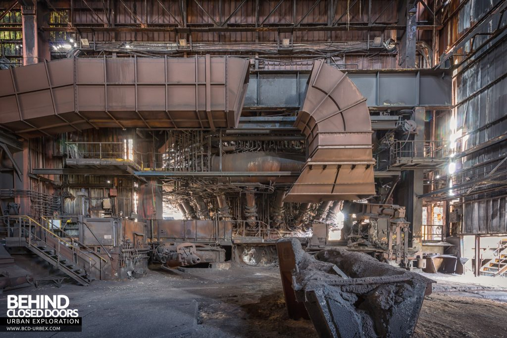 Florange Steelworks, France - Inside another blast furnace building
