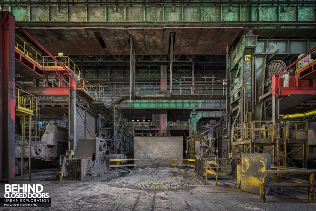 Florange Steelworks, France - Work area between machinery
