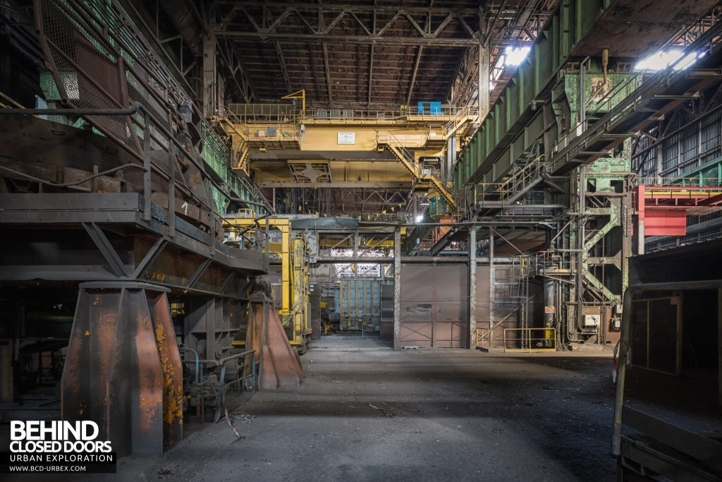 Florange Steelworks, France - View along one of the many long sections