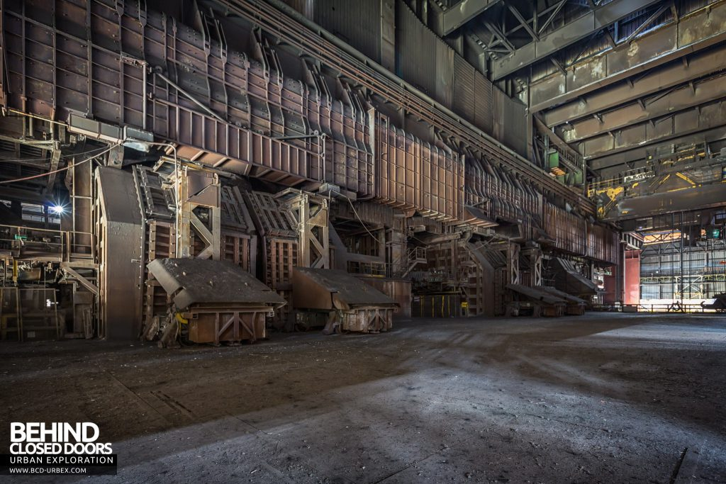 Florange Steelworks, France - Furnaces for melting iron and scrap