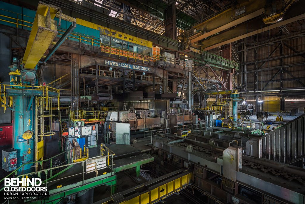 Florange Steelworks, France - Plant in the rolling mill