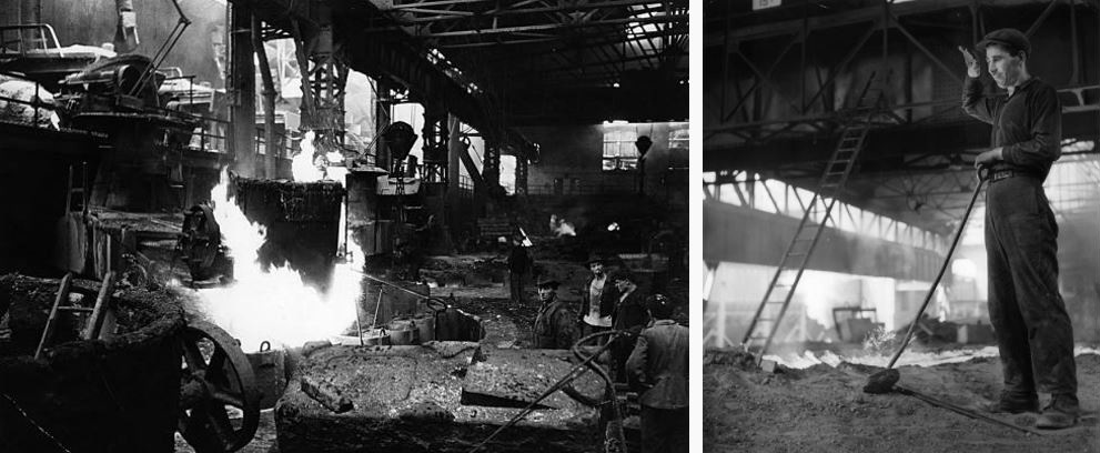 Historic photos of the steelworks, pictured in 1952