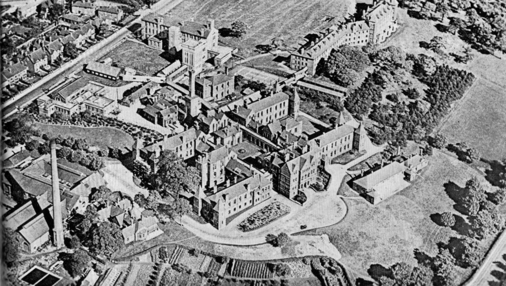 Aerial photo of the Infirmary taken in 1930s