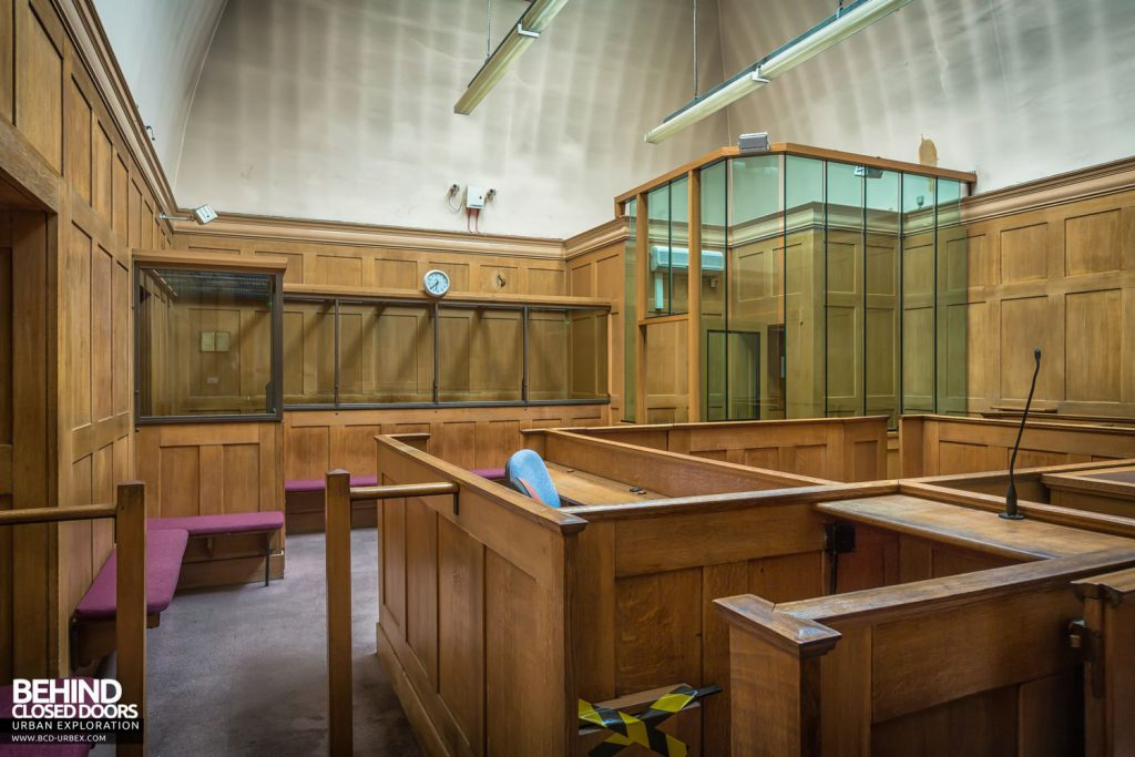 Greenwich Magistrates Court - View towards the back of the courtroom