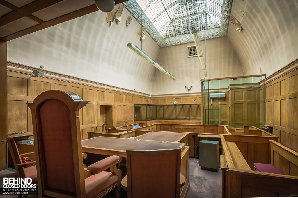 Greenwich Magistrates Court - View from behind the bench