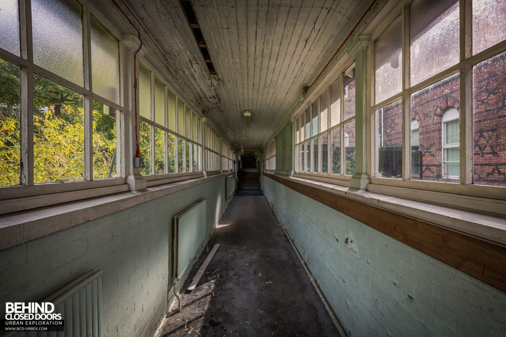 North Staffordshire Royal Infirmary - Corridor to the Nurses Accommodation