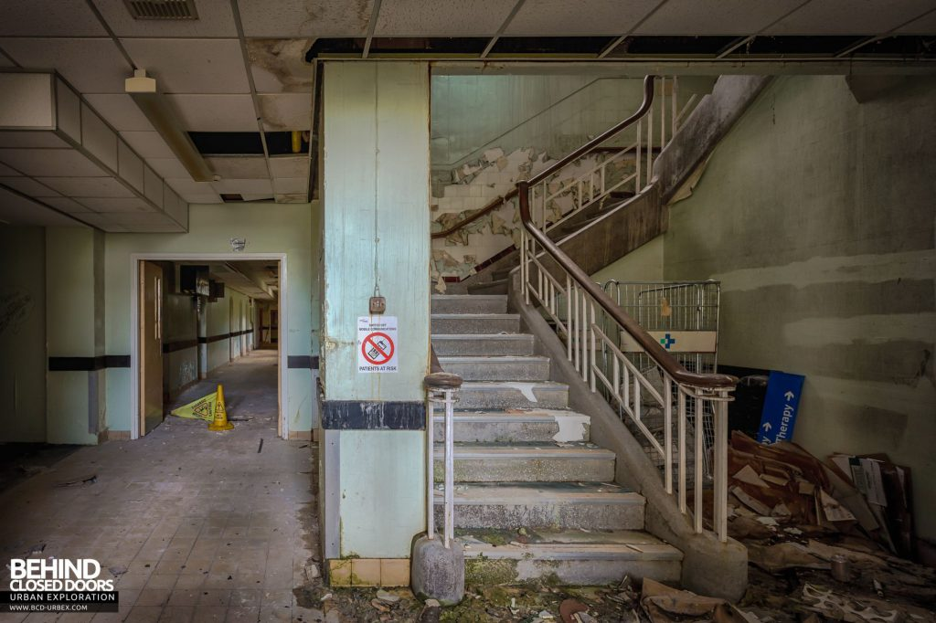 North Staffordshire Royal Infirmary - Staircase and corridor