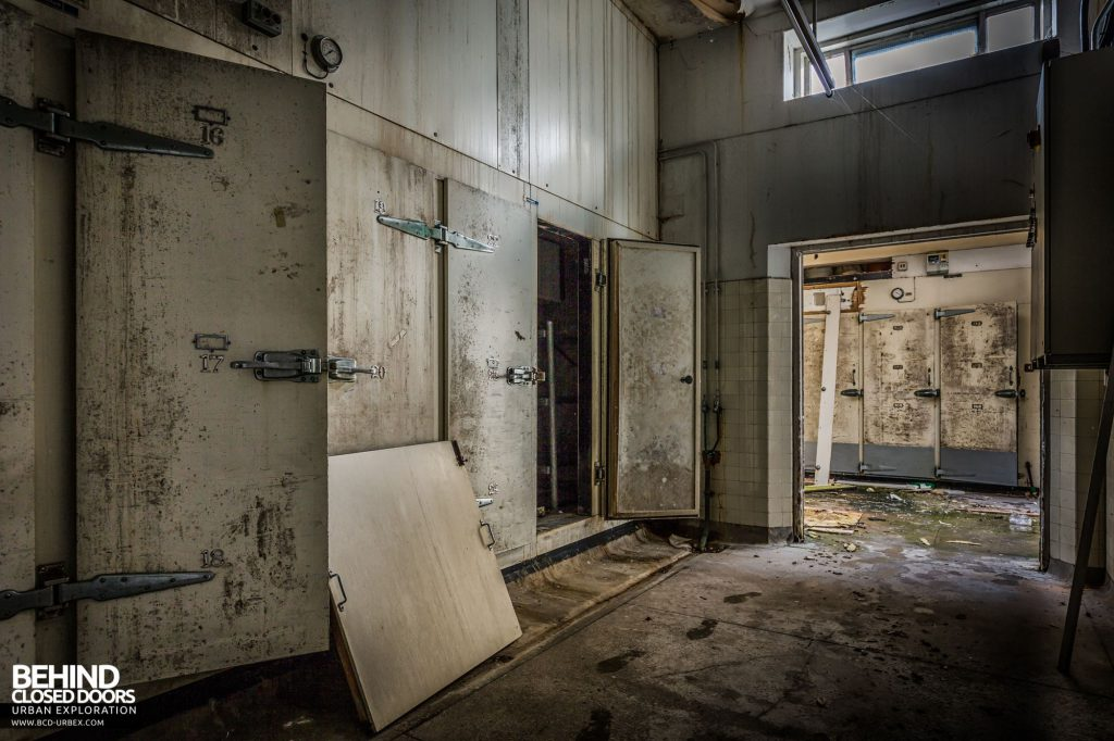 North Staffordshire Royal Infirmary - Body fridges in the mortuary