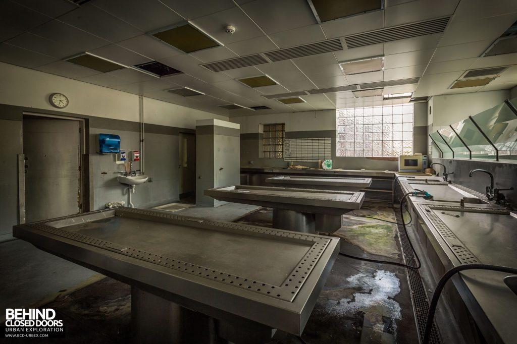 North Staffordshire Royal Infirmary - Slabs and Dissecting Tables