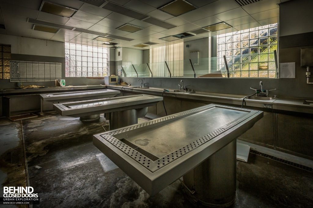 North Staffordshire Royal Infirmary - View across the examination tables