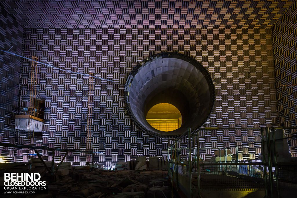 NGTE Pyestock Anechoic Chamber - View from ground level